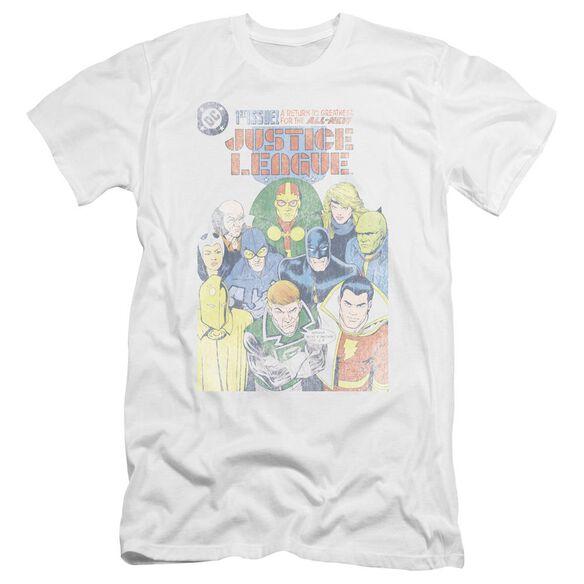 Jla Justice League #1 Cover Premuim Canvas Adult Slim Fit