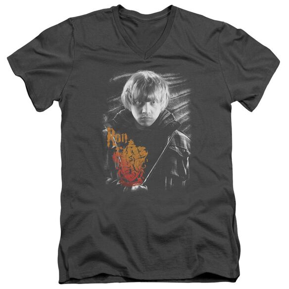 Harry Potter Ron Portrait Short Sleeve Adult V Neck T-Shirt