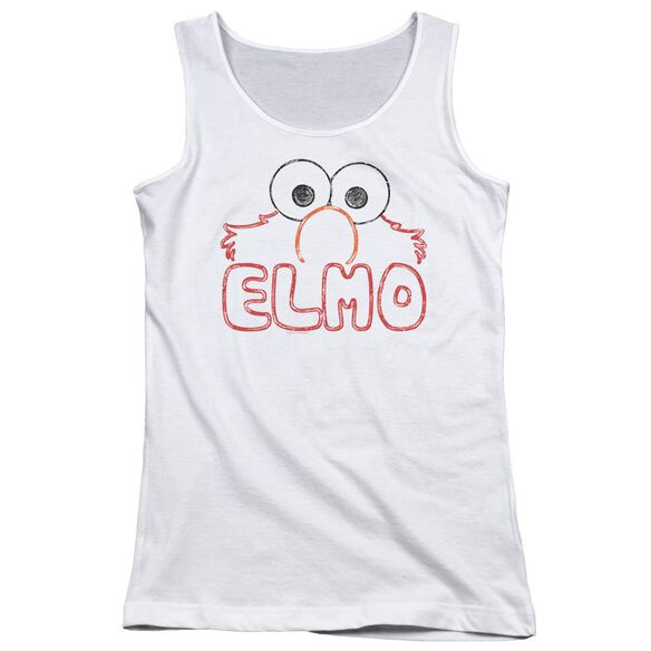 Sesame Street Elmo Letters Juniors Tank Top
