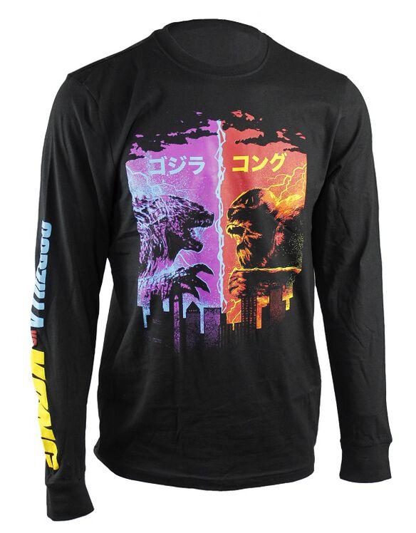 Godzilla vs. Kong Neon Kanji Long Sleeve T-Shirt