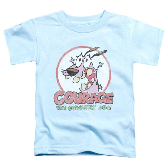 Courage The Cowardly Dog Vintage Courage Short Sleeve Toddler Tee Light Blue Md T-Shirt