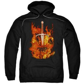 Forged In Fire Sword In Fire Adult Pull Over Hoodie