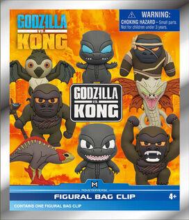 Godzilla Vs Kong 3D Foam Bag Clips in Blind Bag