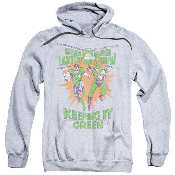 Green Lantern Keeping It Green Adult Pull Over Hoodie Athletic