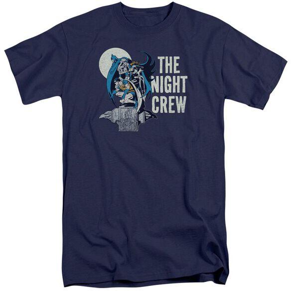 Dc Night Crew Short Sleeve Adult Tall T-Shirt