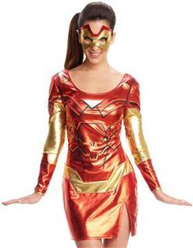Iron Man Rescue Shiny Dress Costume