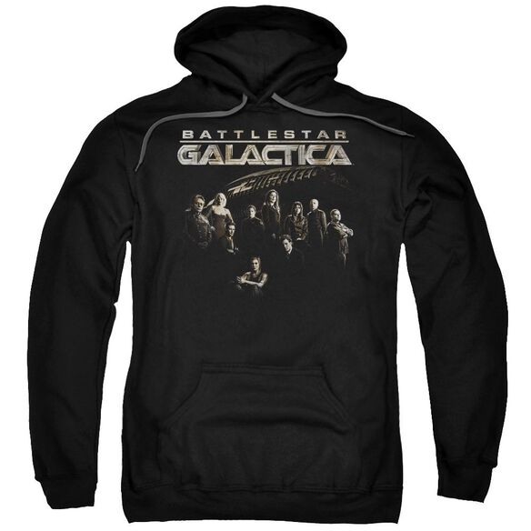 Battlestar Galactica Battle Cast Adult Pull Over Hoodie