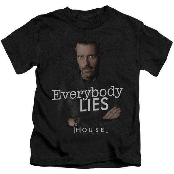 House Everybody Lies Short Sleeve Juvenile Black Md T-Shirt