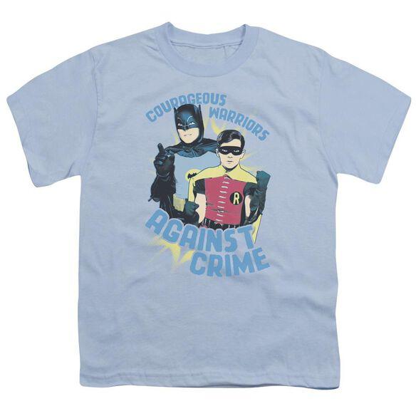 Batman Classic Tv Courageous Warriors Short Sleeve Youth Light T-Shirt