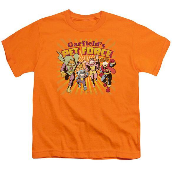 Garfield Pet Force Burst Short Sleeve Youth T-Shirt
