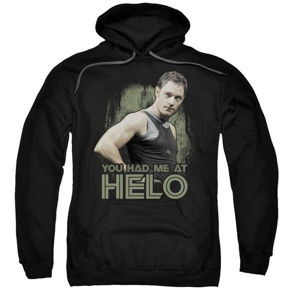 Bsg Had Me At Helo Adult Pull Over Hoodie