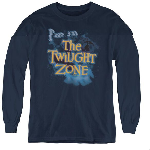 Twilight Zone Im In The Twilight Zone - Youth Long Sleeve Tee - Navy