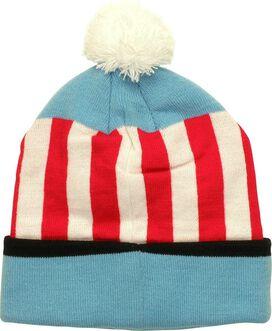 Captain America Stripe Pom Beanie