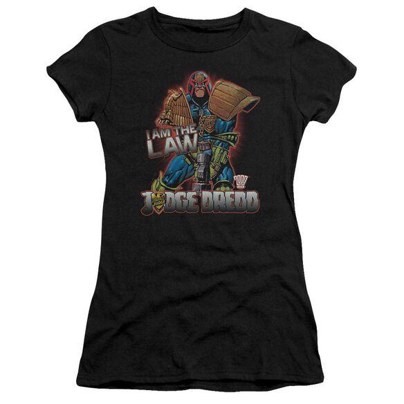 Judge Dredd Law Short Sleeve Junior Sheer T-Shirt