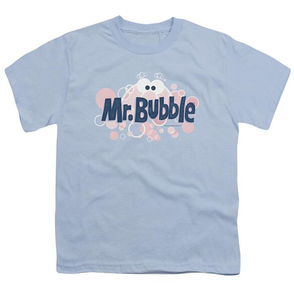 Mr Bubble Eye Logo Short Sleeve Youth Light T-Shirt