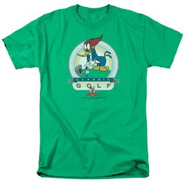 Woody Woodpecker Classic Golf Short Sleeve Adult Kelly T-Shirt