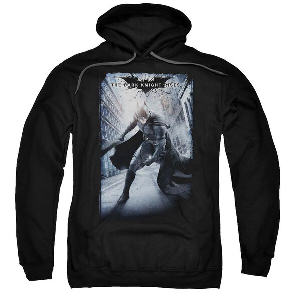 Dark Knight Rises Crumbled Poster Adult Pull Over Hoodie
