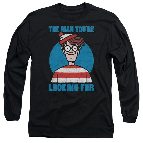 Wheres Waldo Looking For Me Long Sleeve Adult T-Shirt