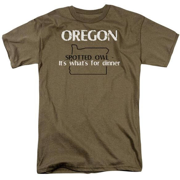 Oregon Short Sleeve Adult Safari Green T-Shirt