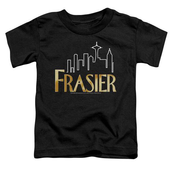Frasier Frasier Logo Short Sleeve Toddler Tee Black T-Shirt