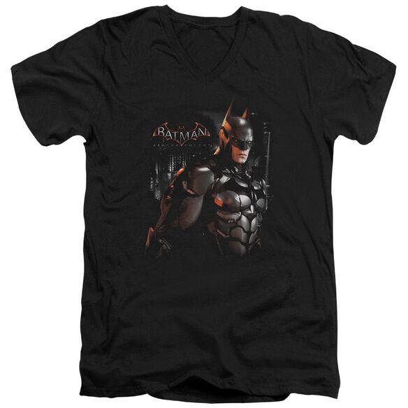 Batman Arkham Knight Dark Knight Short Sleeve Adult V Neck T-Shirt