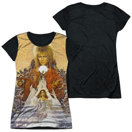 Labyrinth Cover Art Short Sleeve Junior Poly Black Back T-Shirt