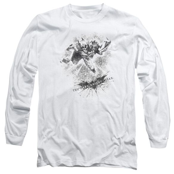 Dark Knight Rises Penciled Knight Long Sleeve Adult T-Shirt