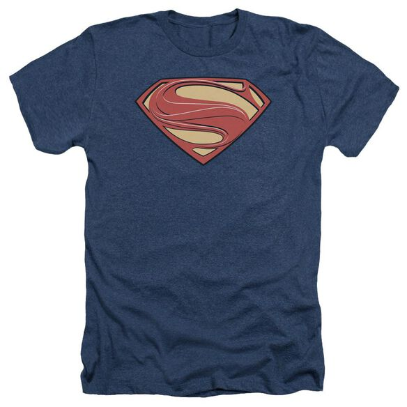 Man Of Steel New Solid Shield Adult Heather