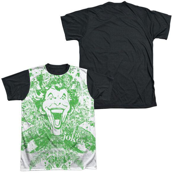 Batman Joker In The Wild Short Sleeve Adult Front Black Back T-Shirt