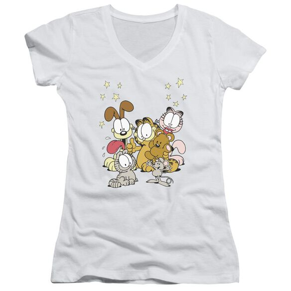 Garfield Friends Are Best Junior V Neck T-Shirt