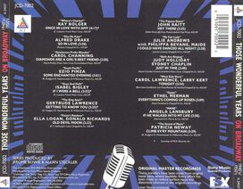 Various Artists - Those Wonderful Years: On Broadway, Vol. 1