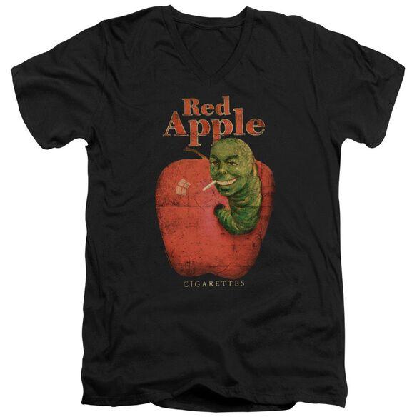 Pulp Fiction Red Apple Short Sleeve Adult V Neck T-Shirt