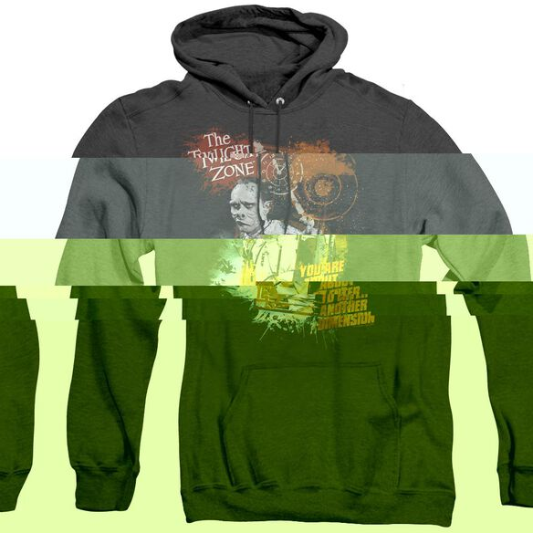 Twilight Zone Enter At Own Risk - Adult Heather Hoodie - Black