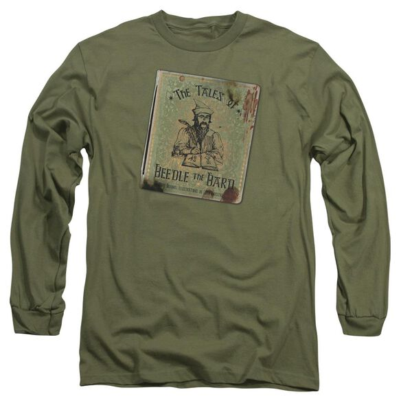 Harry Potter Beedle The Bard Long Sleeve Adult Military T-Shirt