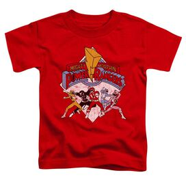 Power Rangers Retro Rangers Short Sleeve Toddler Tee Red T-Shirt