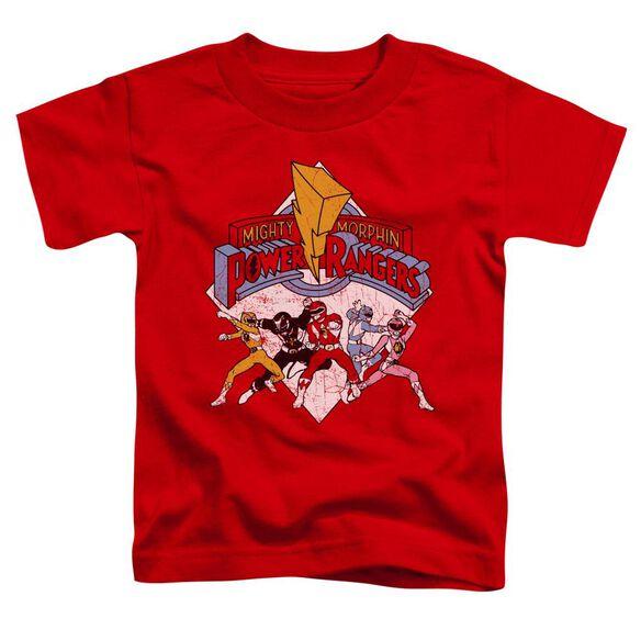 Power Rangers Retro Rangers Short Sleeve Toddler Tee Red T-Shirt