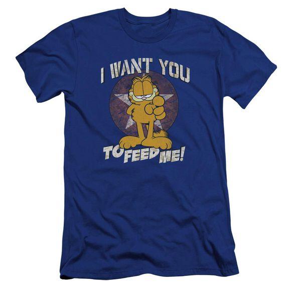 Garfield I Want You Premuim Canvas Adult Slim Fit Royal