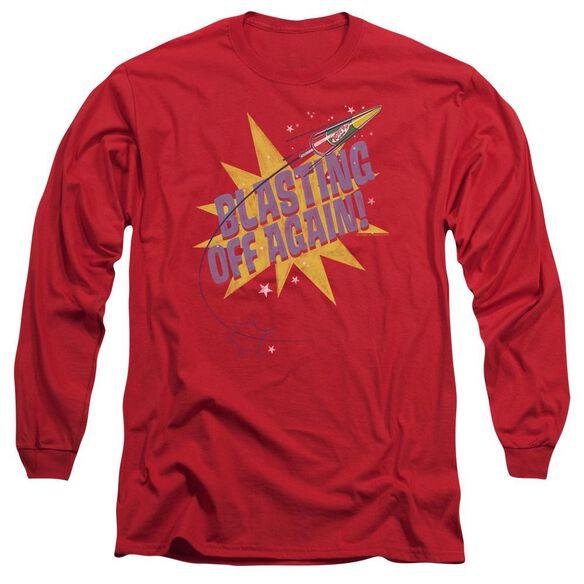 Astro Pop Blast Off Long Sleeve Adult T-Shirt