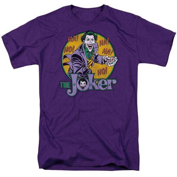 Dc The Joker Short Sleeve Adult Purple T-Shirt