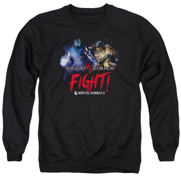 Mortal Kombat Fight Adult Crewneck Sweatshirt