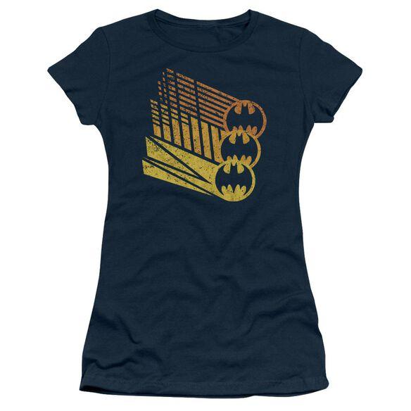 Batman Bat Signal Shapes Short Sleeve Junior Sheer T-Shirt