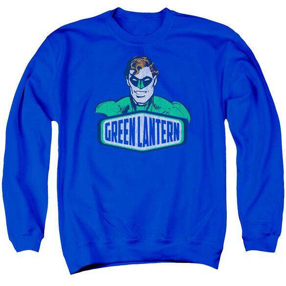 Dco Green Lantern Sign Adult Crewneck Sweatshirt Royal