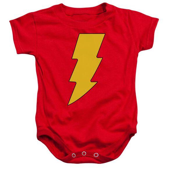 Dc Shazam Logo Infant Snapsuit Red Xl