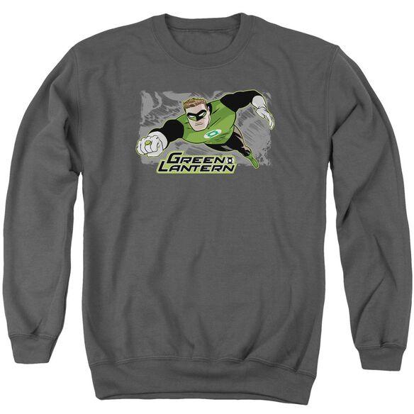Jla Space Cop Adult Crewneck Sweatshirt