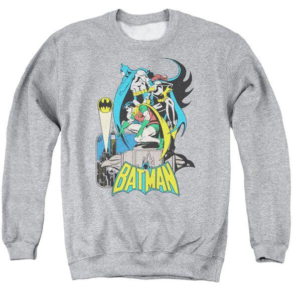 Dc Heroic Trio Adult Crewneck Sweatshirt Athletic