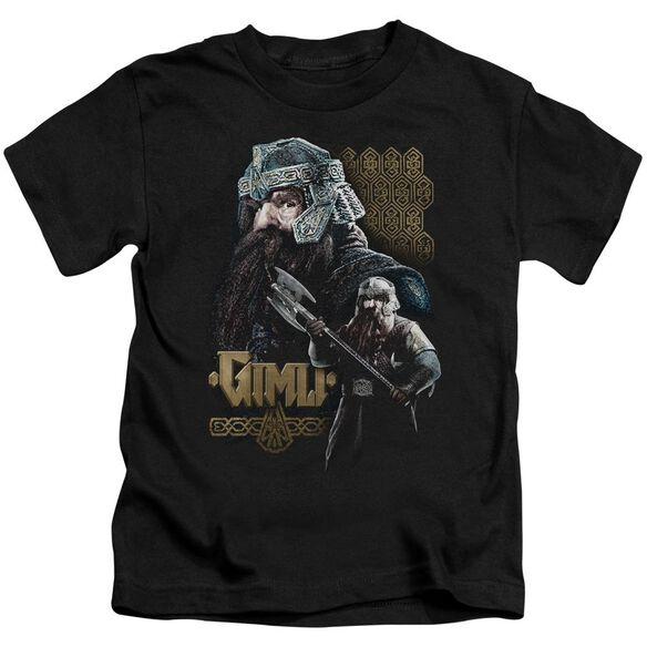Lor Gimli Short Sleeve Juvenile Black T-Shirt