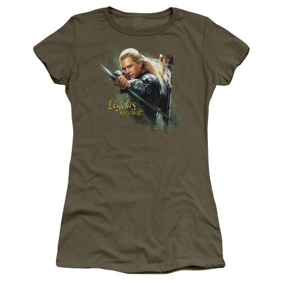Hobbit Legolas Greenleaf Short Sleeve Junior Sheer Military T-Shirt