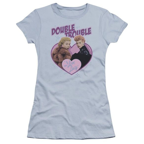 I Love Lucy Double Trouble Premium Bella Junior Sheer Jersey Light