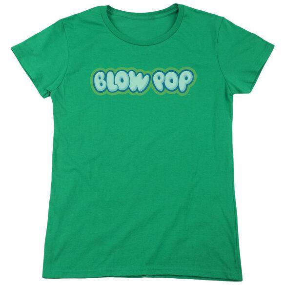 Tootsie Roll Blow Pop Logo Short Sleeve Womens Tee Kelly T-Shirt