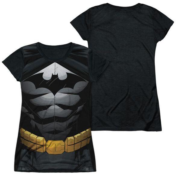 Batman Uniform Short Sleeve Junior Poly Black Back T-Shirt